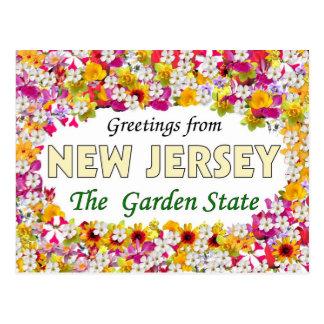 Postal Saludos de New Jersey