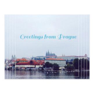 Postal saludos de Praga, República Checa