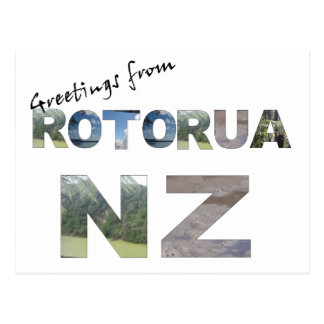Postal Saludos de Rotorua NZ