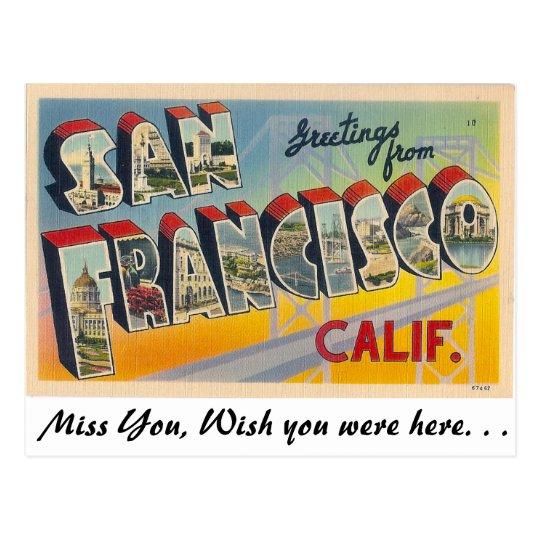 Postal Saludos de San Francisco