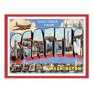 Postal Saludos de Seattle, Washington los E.E.U.U.