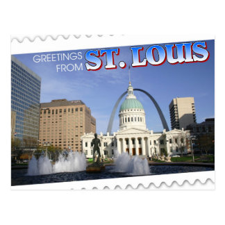 Postal Saludos de St. Louis, Missouri