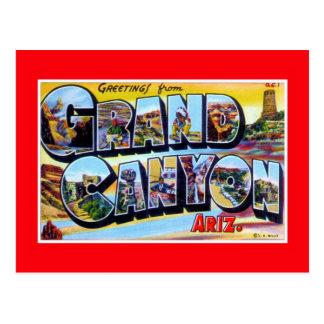 Postal saludos del vintage del Gran Cañón Arizona