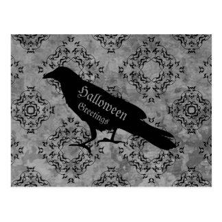 Postal Saludos elegantes del cuervo