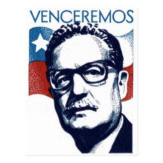 Postal Salvador Allende - Venceremos