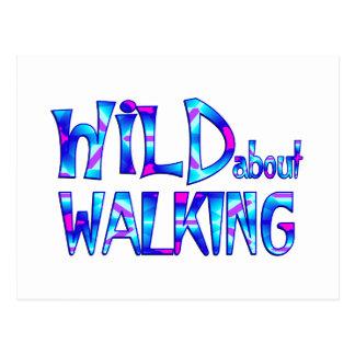 Postal Salvaje sobre caminar