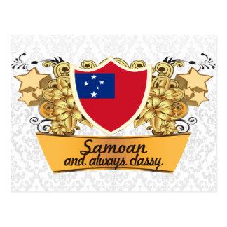 Postal Samoano con clase