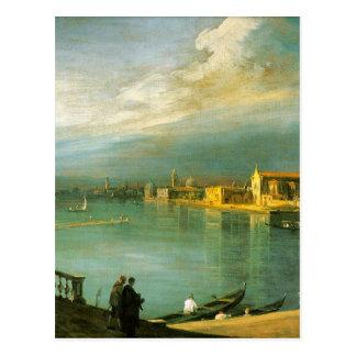 Postal San Cristoforo, San Micaela y Murano por Canaletto