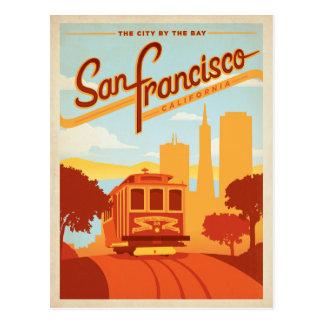 Postal San Francisco, CA - la ciudad por la bahía