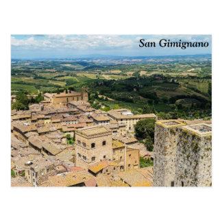 Postal San Gimignano, Italia