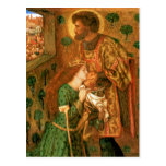 Postal San Jorge y la princesa Sabra