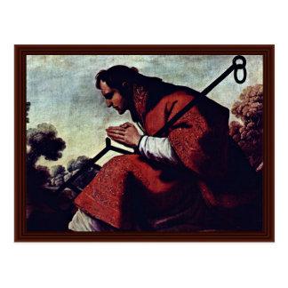 Postal San Lorenzo de Zurbarán Francisco De