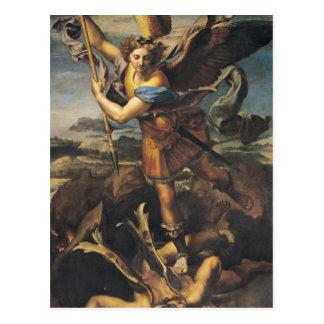 Postal San Miguel que abruma al demonio, 1518