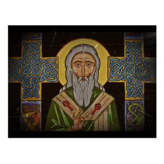 Postal San Patricio la cruz céltica