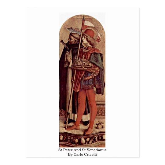 Postal San Pedro y St.Venetianus de Carlo Crivelli