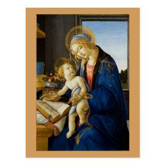Postal Sandro Botticelli - la Virgen y el niño
