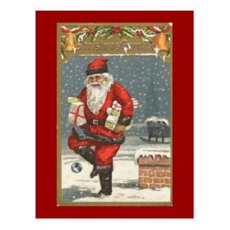 Postal Santa con los presentes