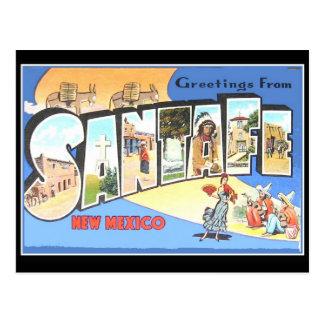 Postal Santa Fe del vintage