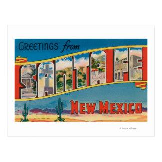 Postal Santa Fe, New México - escenas grandes 2 de la