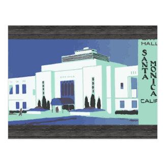 Postal Santa Mónica Calif, vintage