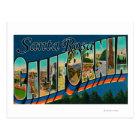 Postal Santa Rosa, California - escenas grandes de la