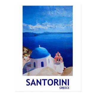 Postal Santorini azul, Grecia - visión desde Oia