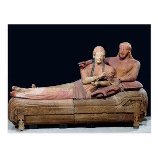 Postal Sarcófago de un par casado, 525-500 A.C.