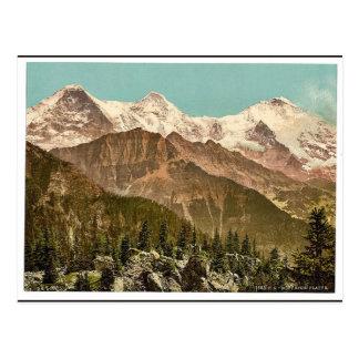 Postal Schynige Platte, Eiger, Monch y Jungfrau, Bernes