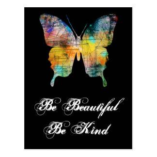 Postal Sea hermoso, sea mariposa buena