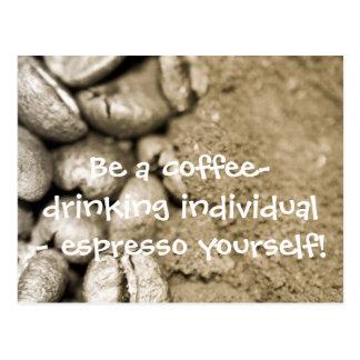 Postal Sea un individuo de café-consumición -