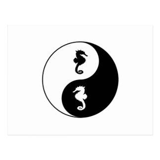 Postal Seahorse de Yin Yang