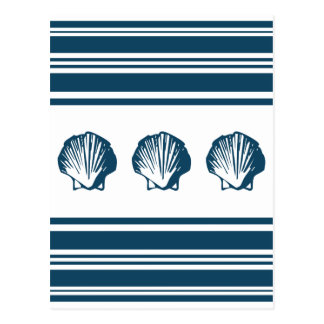 Postal Seashells y rayas