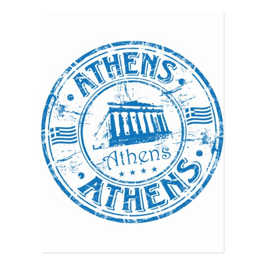 Postal Sello de Atenas