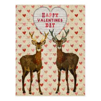 Postal selvática del día de San Valentín de los al