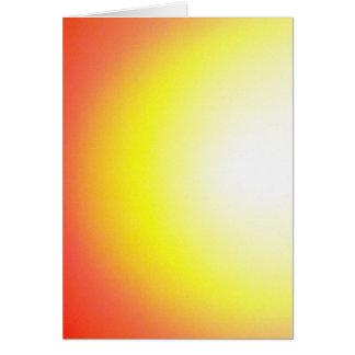 Postal semicírculo en rot-gelb-weiss, en blanco tarjeta de felicitación