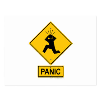 Postal Señal de peligro del pánico