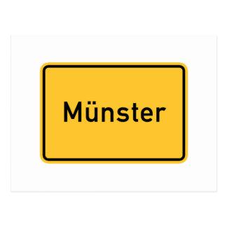 Postal Señal de tráfico de Munster, Alemania