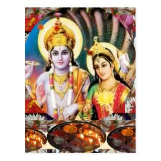 Postal Señor Vishnu de DHAN Laxmi n: para la referencia