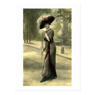 Postal Señora de Edwardian