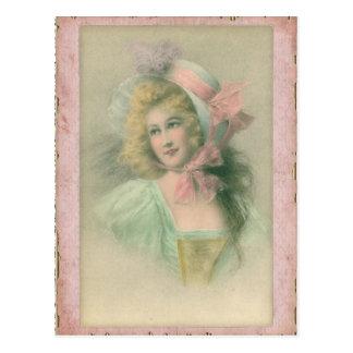 Postal Señora de Edwardian del vintage en el ejemplo