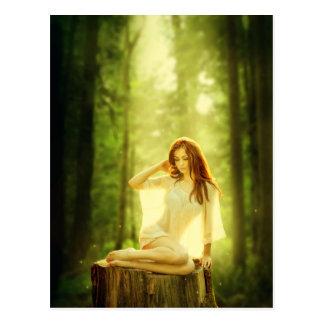 Postal Señora del bosque encantado