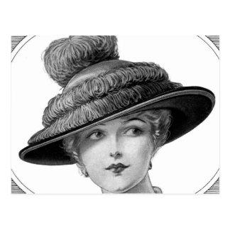 Postal Señora del gorra del Victorian