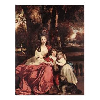 Postal Señora Delm y sus niños de Joshua Reynolds