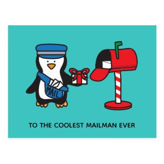 Postal Señora empleado de correos del correo del cartero