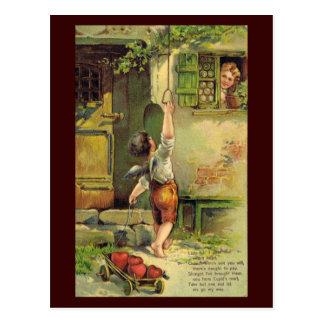 Postal Señora Fair Valentine Postcard