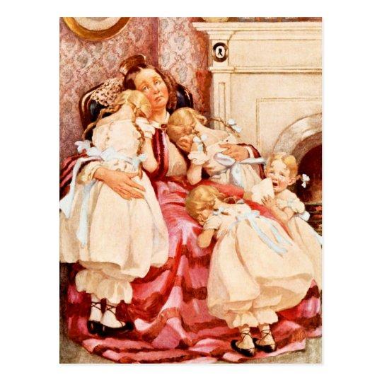 Postal Señora Kenwigs y los cuatro poco Kenwigses