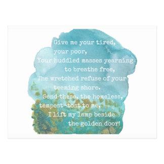 Postal Señora Liberty Poem Postcard