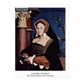 Postal Señora Maria Guildford By Hans Holbein el más