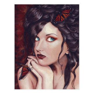 Postal Señora Monarch Postcard
