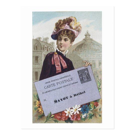 Postal Señora Postcard del Victorian de Postale de la